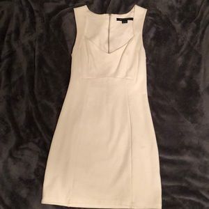 French connection bodycon dress with zip back.